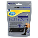 Scholl Flight Socks Black 1 Pair Shoe Sizes 3