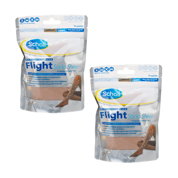 Scholl Sheer Flight Socks 2 Pairs Twin Pack