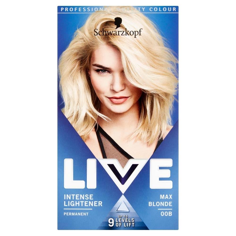 Schwarzkopf Live Intense Lightener 00B Max Blonde Permanent Hair Dye