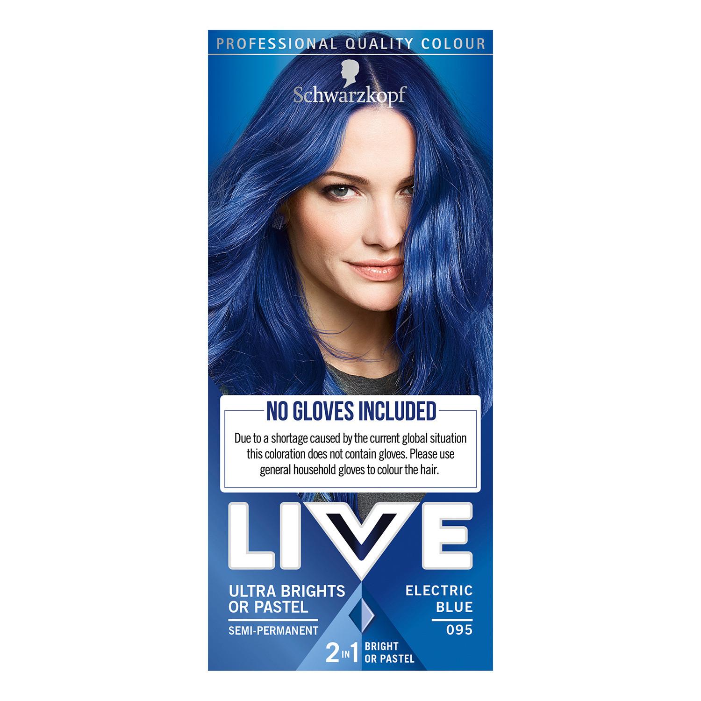 Schwarzkopf Live Ultra Brights Or Pastel 95 Electric Blue Semi Permanent Hair Dye