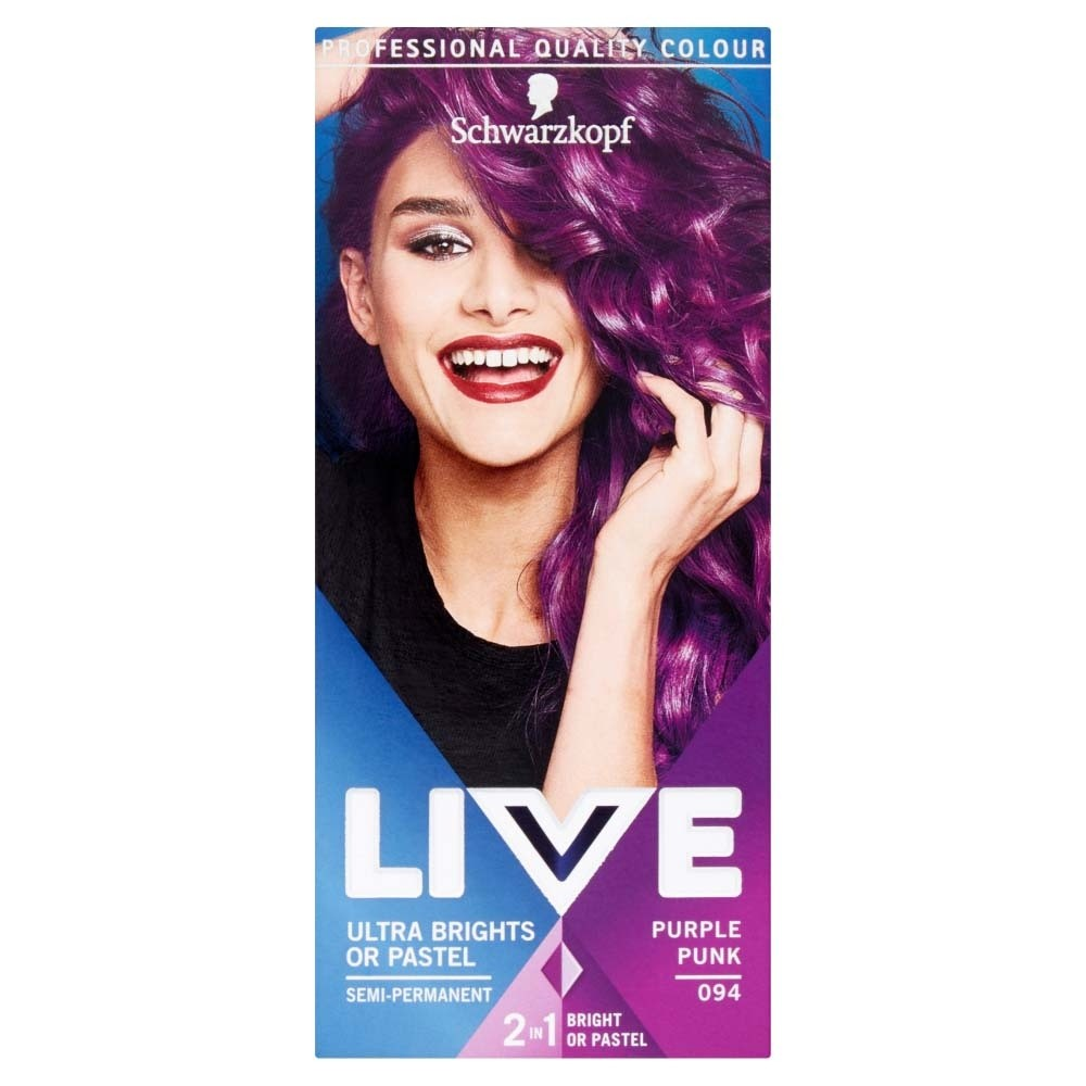 Schwarzkopf Live Ultra Brights Or Pastel 94 Purple Punk Semi Permanent Hair Dye