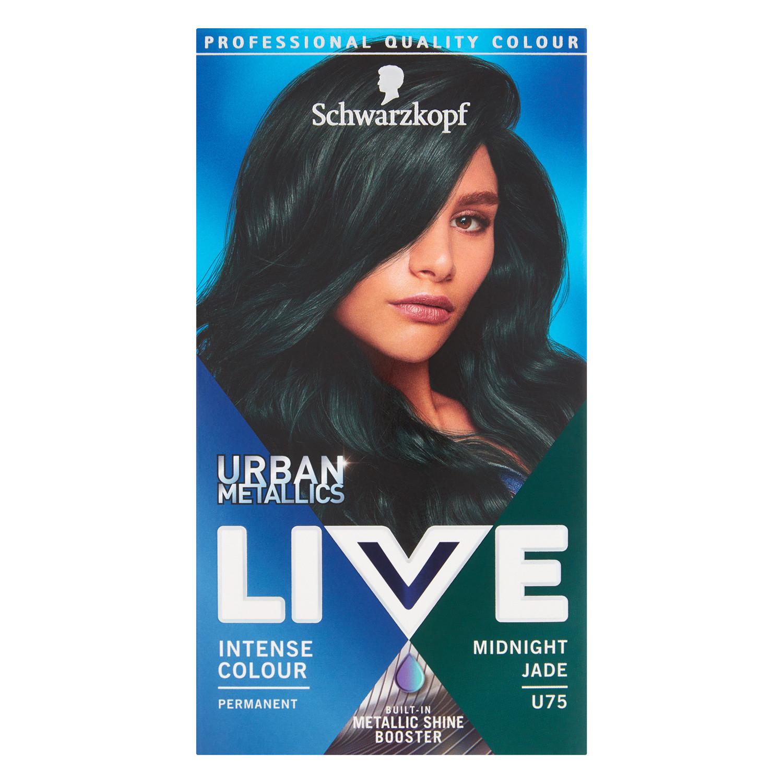 Schwarzkopf Live Urban Metallics U75 Midnight Jade Permanent Hair Dye