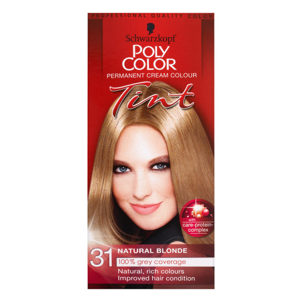 Schwarzkopf Poly Colour Tint 31 Natural Blonde Permanent Hair Dye