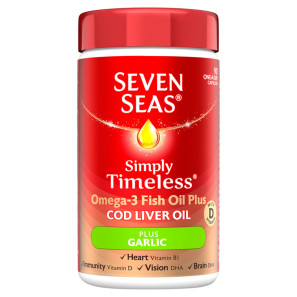 Seven Seas Cod Liver Oil Plus Garlic 90 Tablets