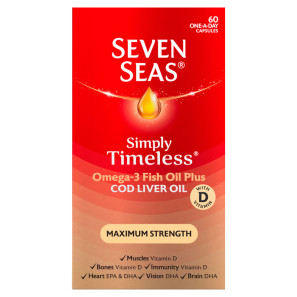 Seven Seas Cod Liver Oil Maximum Strength Capsules