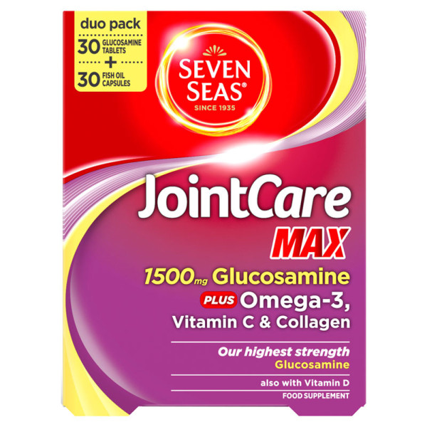 Seven Seas JointCare Max Glucosamine Tablets & Fish Oil Capsules