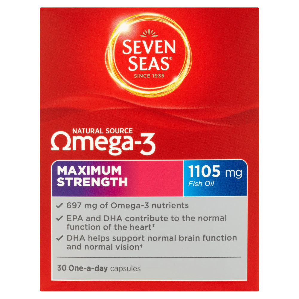 Seven Seas Natural Source Omega 3 Maximum Strength Capsules