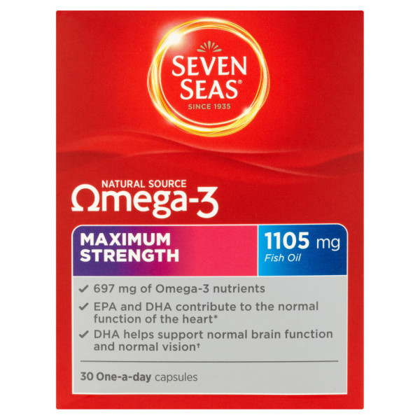 Seven Seas Natural Source Omega 3 Maximum Strength Capsules
