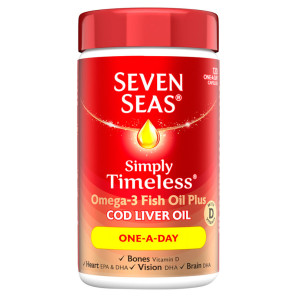 Seven Seas Simply Timeless Cod Liver Oil One-A-Day Capsules