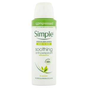 Simple Antiperspirant Soothing for Sensitive Skin
