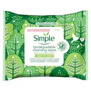Simple Kind to Skin Biodegradable Cleansing Face Wipes