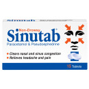 Sinutab Non Drowsy 15 Tablets