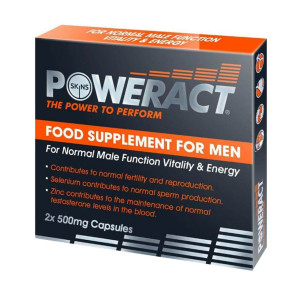 Skins Poweract Food Supplement Capsules for Vitality and Energy