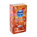 Skins Premium Condoms Strawberry Flavoured 12