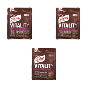 SlimFast Advanced Vitality Chocolate Intensity Powder x3