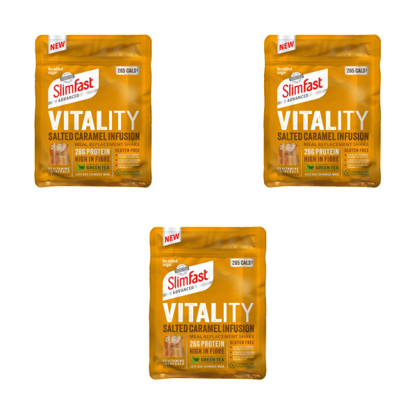 SlimFast Advanced Vitality Salted Caramel Infusion Triple Pack