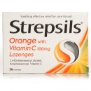 Strepsils Orange With Vitamin C100mg