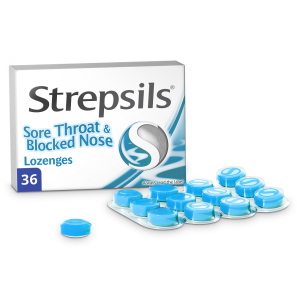 Strepsils Sore Throat & Blocked Nose Lozenges