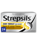 Strepsils Sore Throat Pain Relief Honey & Lemon Lozenges