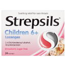 Strepsils for Children Strawberry Sugar Free 16s