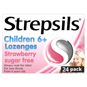 Strepsils for Children Strawberry Sugar Free Lozenges
