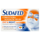 Sudafed Congestion & Headache Relief Day/Night Capsules