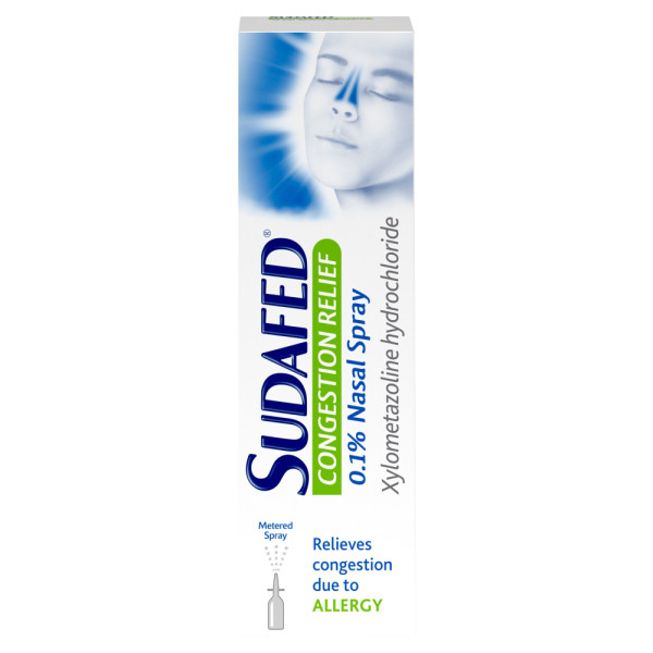 Sudafed Congestion Relief 0.1% Nasal Spray