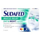Sudafed Mucus Relief Day & Night Capsules 16s