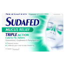 Sudafed Mucus Relief Triple Action Cold and Flu Tablets