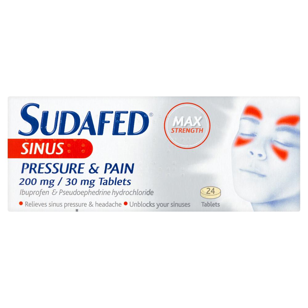 Sudafed Sinus Pressure Tablets 24