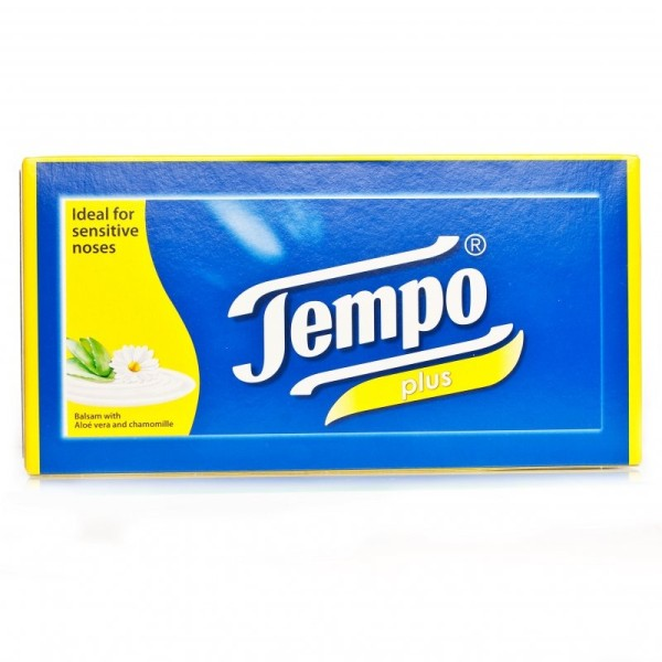 Tempo Plus Aloe & Camomile Tissues - 12 Pack