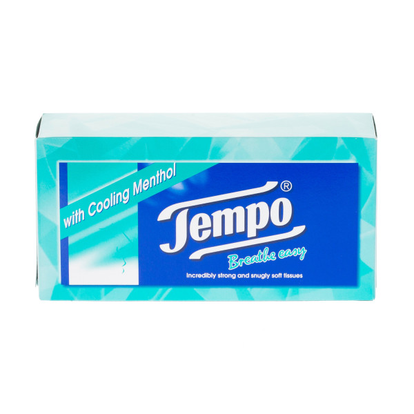 Tempo Regular Menthol Tissues - 12 Packs