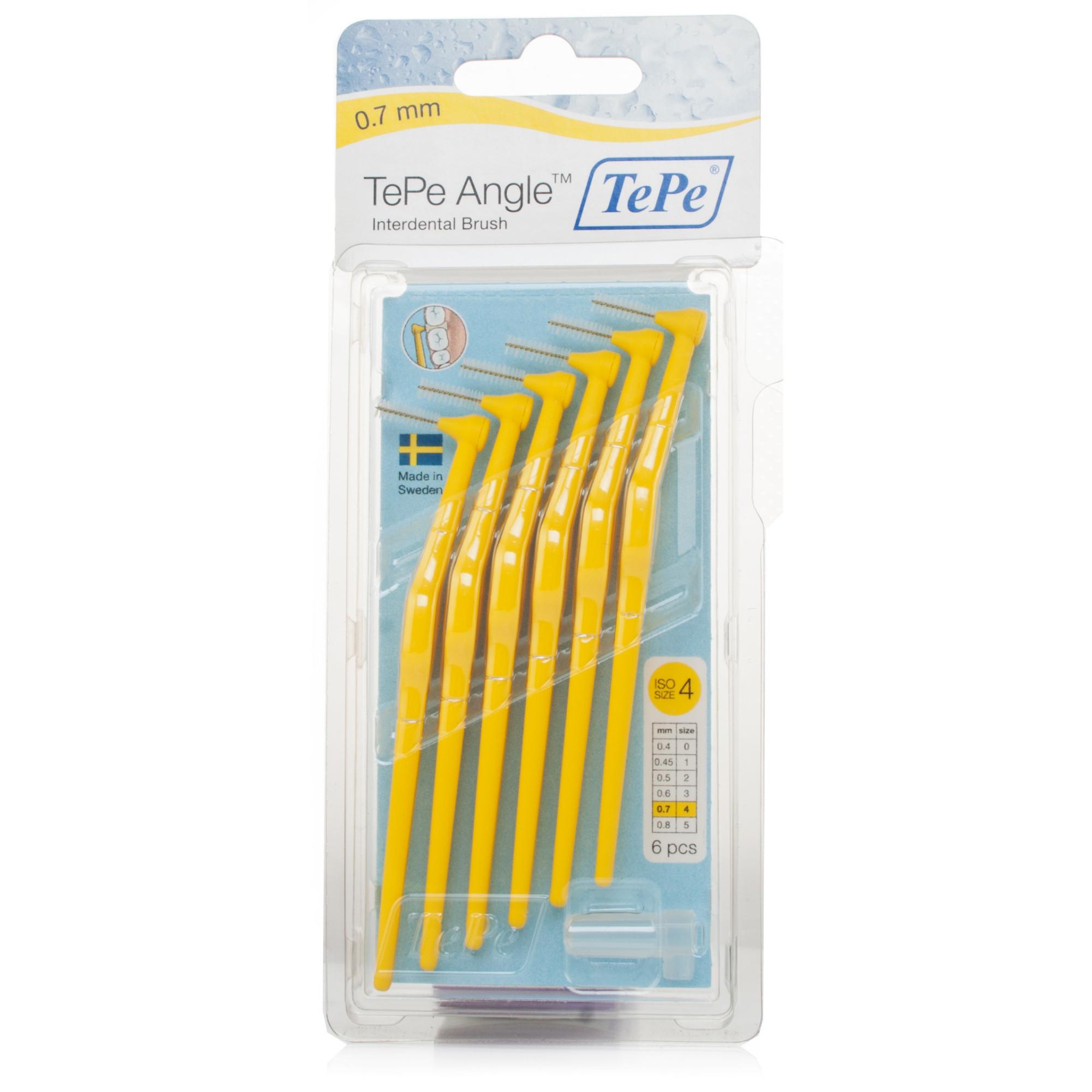 Tepe Angled Interdental Brush Yellow