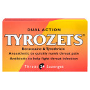 Tyrozets Dual Action Lozenges for Throat Pain