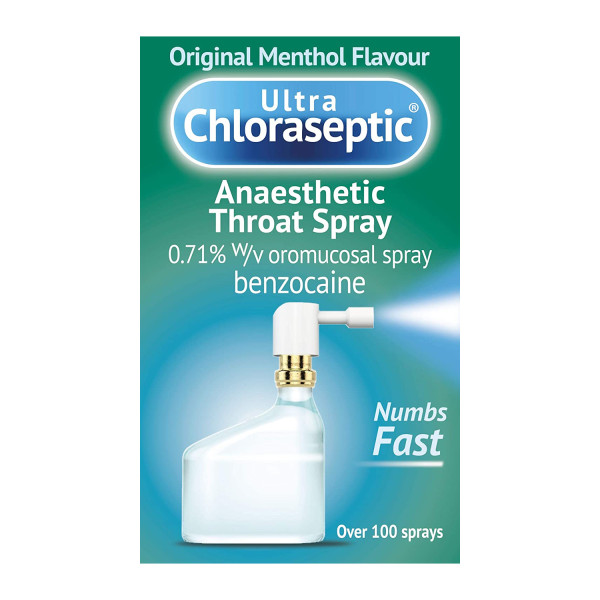 Ultra Chloraseptic Anaesthetic Throat Spray Menthol