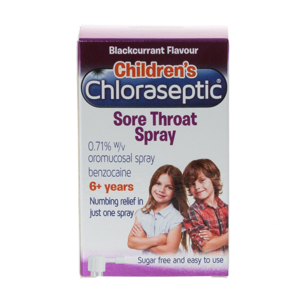 Ultra Chloraseptic Sore Throat Spray Kids Blackcurrant
