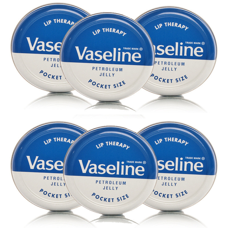 Vaseline Lip Therapy Original 6 Tins