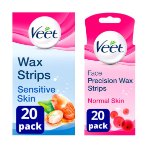 Veet Cold Wax Hair Removal Bundle Legs & Face