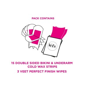 Veet Cold Wax Strips Bikini & Underarm Sensitive