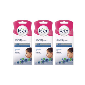 Veet Cold Wax Strips Face Sensitive