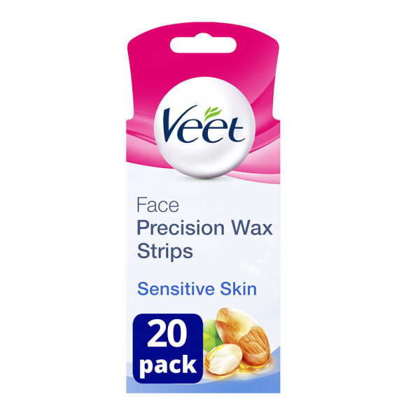 Veet Easy Grip Ready to Use Face Wax Strips for Sensitive Skin