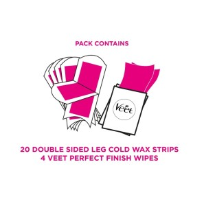Veet Wax Strips Legs Sensitive Skin