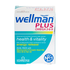 Vitabiotics Wellman Plus Omega 3-6-9