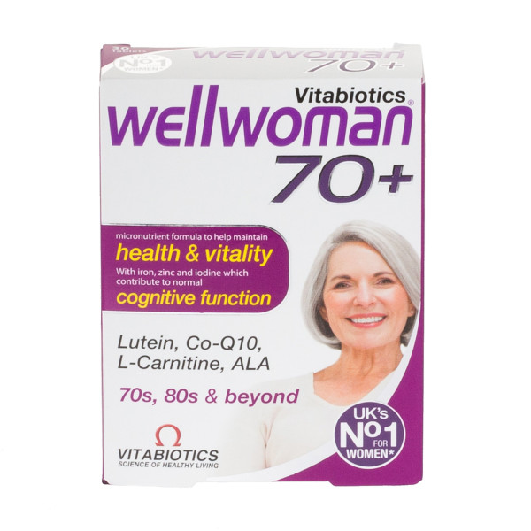 Vitabiotics Wellwoman Health And Vitality Tablets 70+