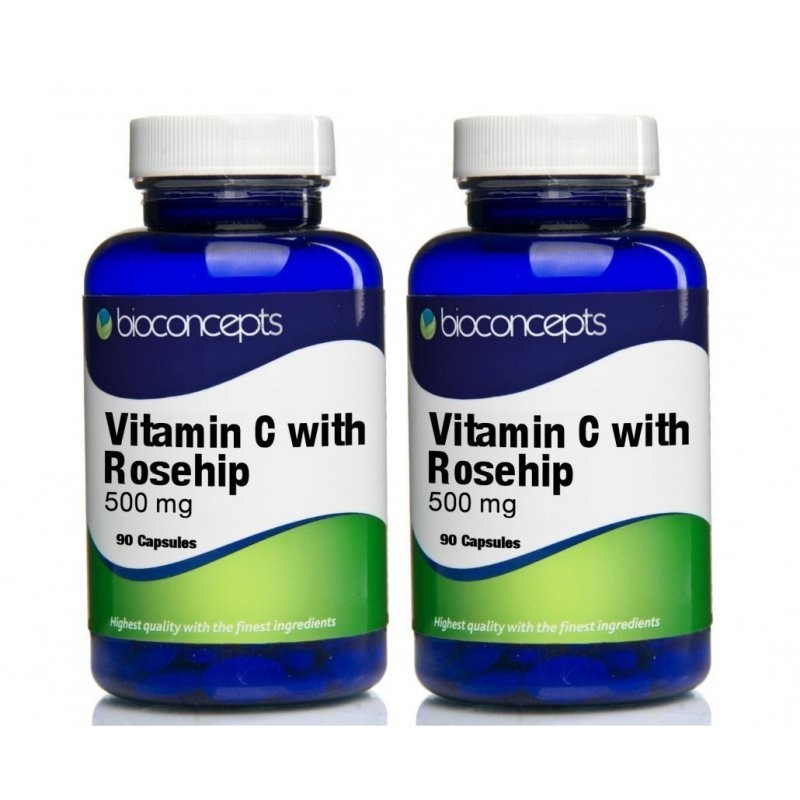 Bioconcepts Vitamin C with Rosehip Tablets 500mg  180 Tablets