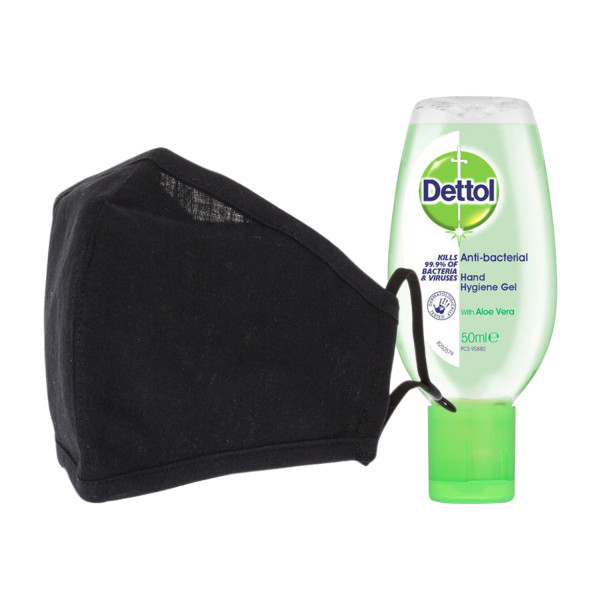 Washable Face Covering and Hand Sanitiser Bundle