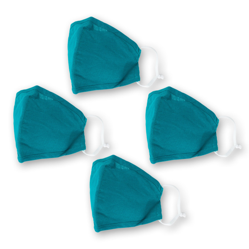 Washable Teal Face Covering
