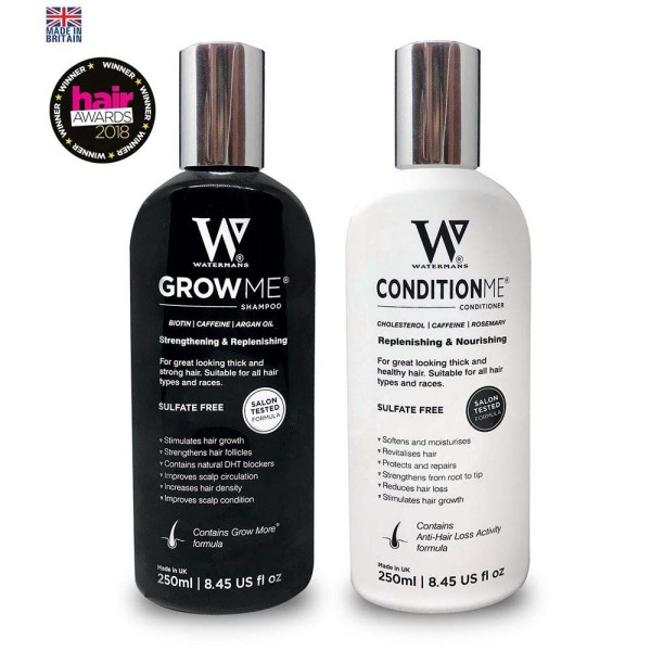Watermans Grow Me Shampoo and Condition Me Conditioner Duo