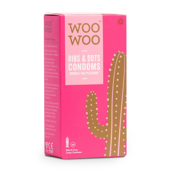 WooWoo Protect It! Natural Rubber Latex Ribs and Dots