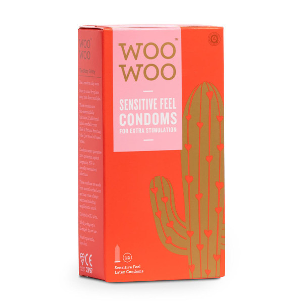 WooWoo Protect It! Sensitive/Real Feel Natural Rubber Latex Condoms